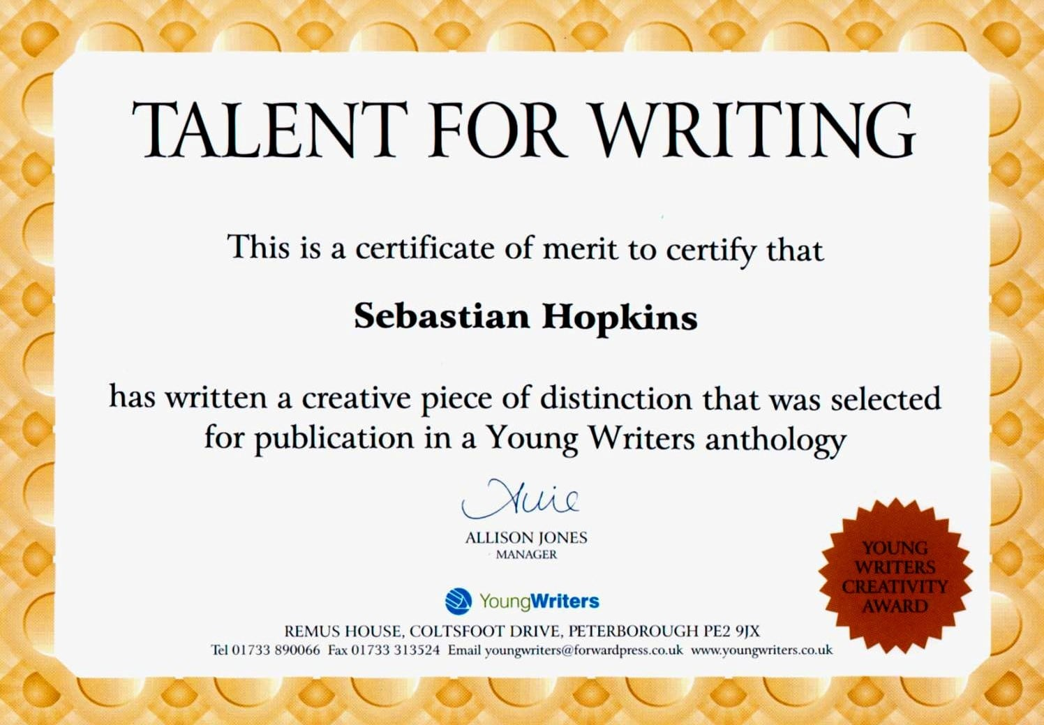 Writer's Qualification and Experience