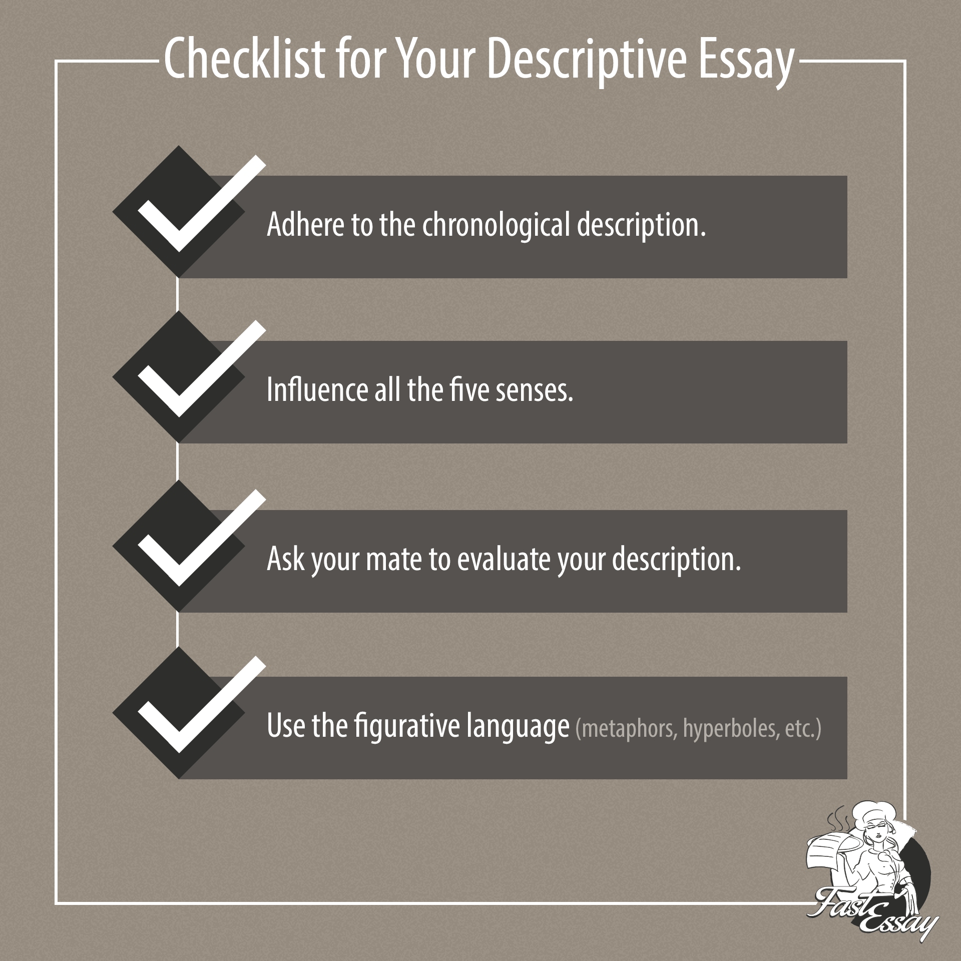 checklist for descriptive essay